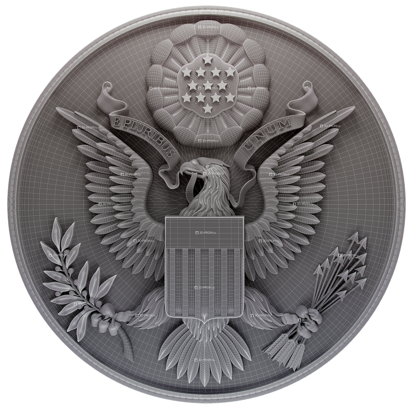 Coat of arms USA 3d model
