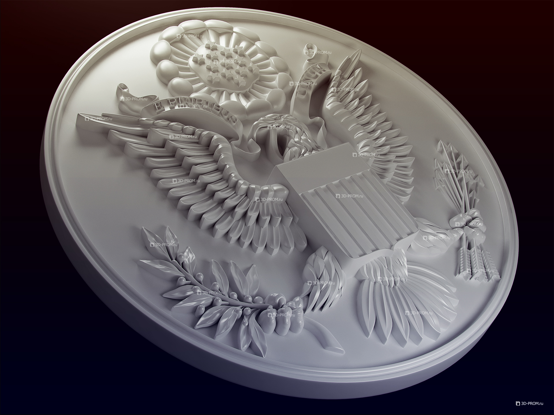 Great Seal of the USA, 3d model