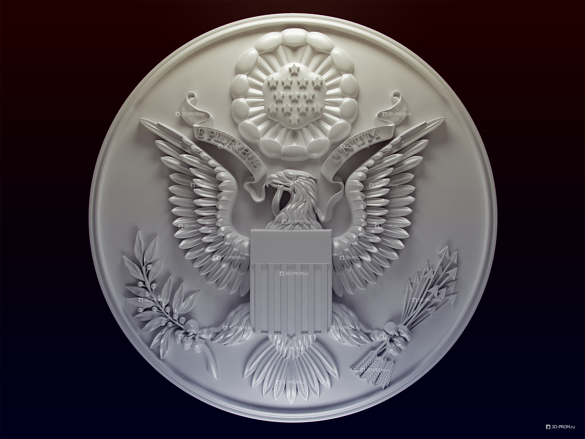 Great Seal of the United States, 3d model